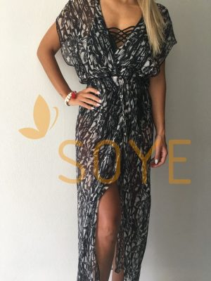 Čierna Dlhá tunika 1 | Soye Clothing