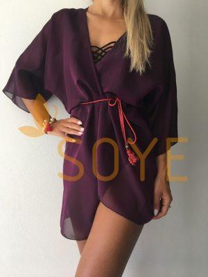 Fialová Krátka Tunika 1 |Soye Clothing
