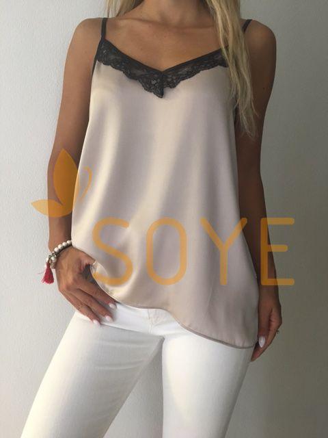 Krémové Čipkované Tielko 1 |Soye Clothing