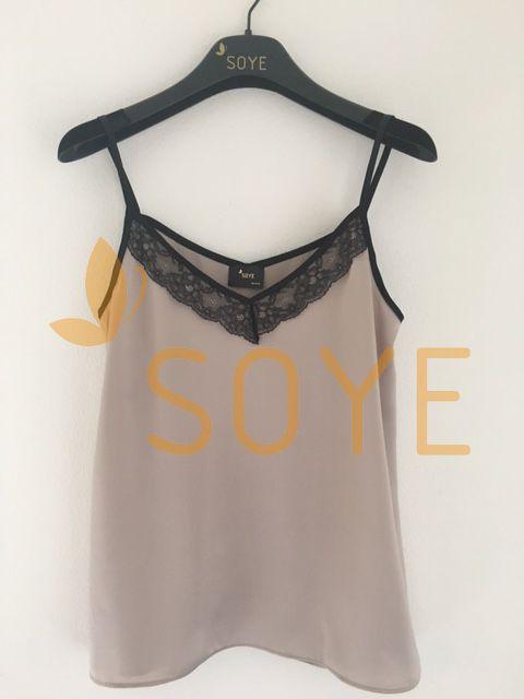 Krémové Čipkované Tielko 2 |Soye Clothing