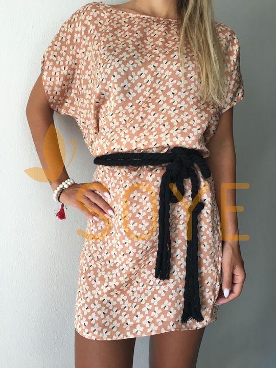 Lososové Vzorované Šaty 1 |Soye Clothing