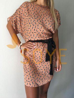 Medené Vzorované Šaty 1 |Soye Clothing