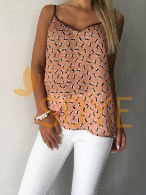 Medené Vzorované Tielko 1 | Soye Clothing