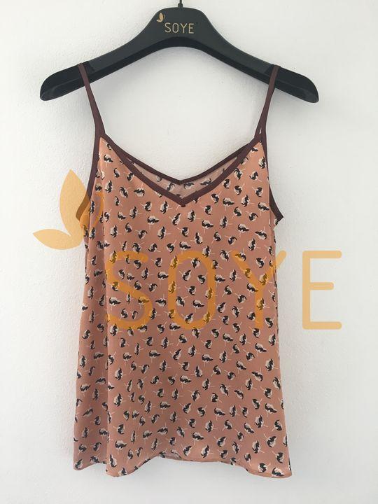 Medené Vzorované Tielko 2 | Soye Clothing