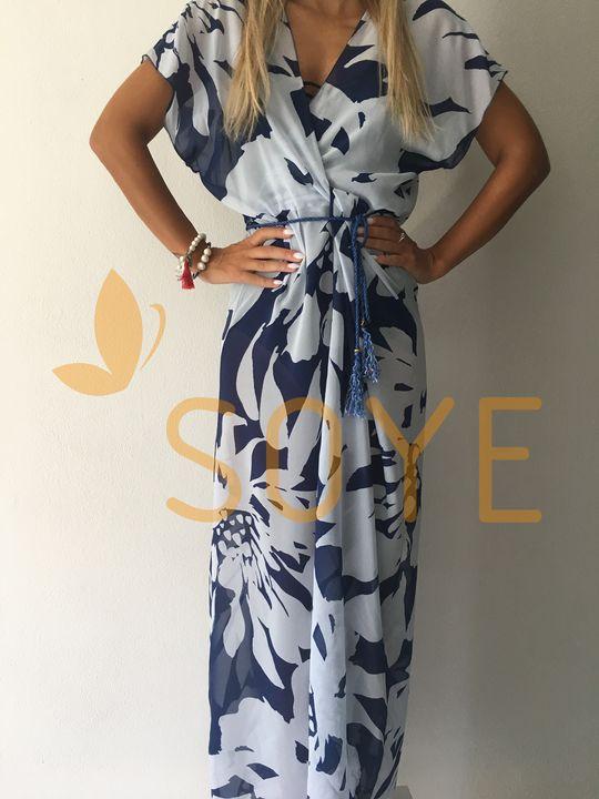 Modrá Dlhá Tunika 1   Soye Clothing