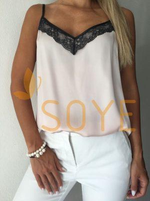 Ružové Čipkované Tielko 1 |Soye Clothing