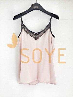 Ružové Čipkované Tielko 2 |Soye Clothing